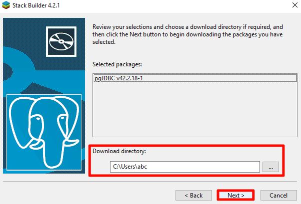 How to install Stack builder PostgreSQL on windows