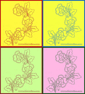 Sketch of hand embroidery floral designs, latest floral design drawing