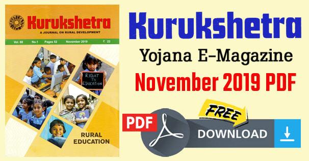 Kurukshetra Magazine November 2019 PDF