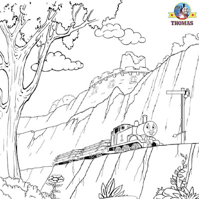 Mountain railroad Thomas tank the engine representation steam pictures to color coloring pages free