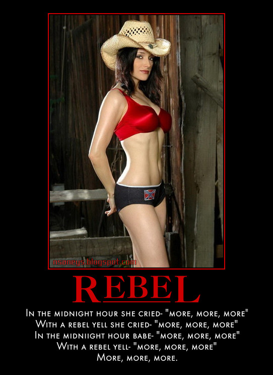 Nsaney's Motivational Posters: Sexy Cowgirl: Rebel Yell