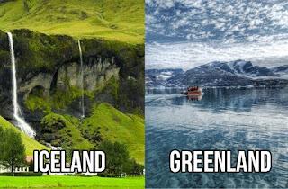 Suasana Islandia dan Greenland