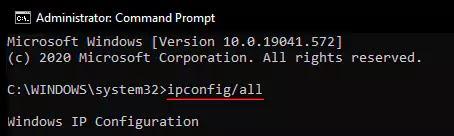ipconfig/all