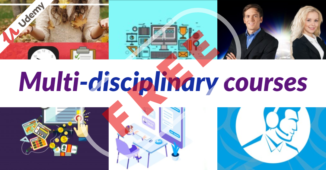 Multi-disciplinary courses Offer from Udemy