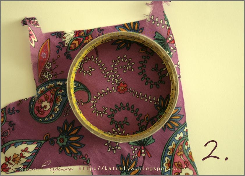 Цветы из ткани своими руками ~ Открытки ручной работы