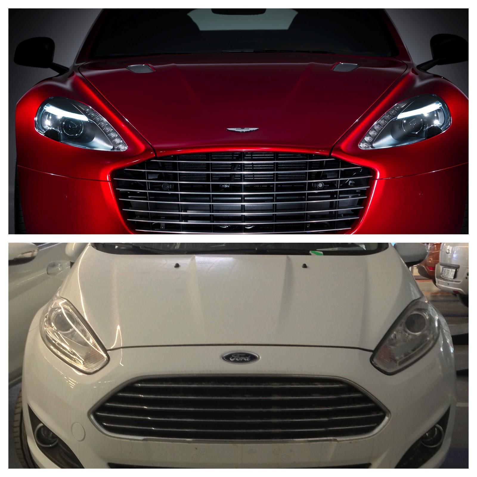 Ford Fiesta Vs Aston Martin Rapide S Design Similarity