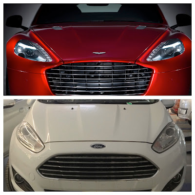 Ford Fiesta vs. Aston Martin Rapide S: Design Similarity