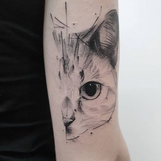 Cat Eye Tattoo Designs sleeve