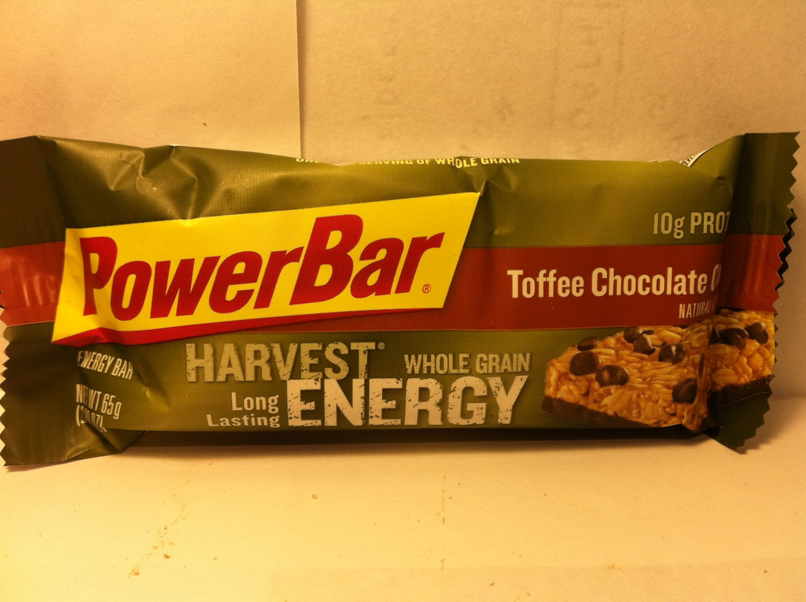 Crazy Food Dude Review Powerbar Harvest Toffee Chocolate