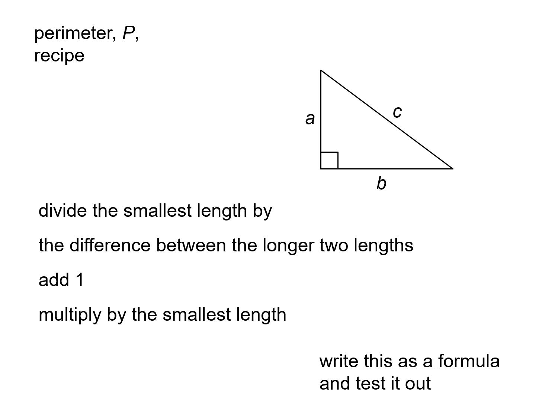 Median Don Steward Mathematics Teaching Perimeters Of
