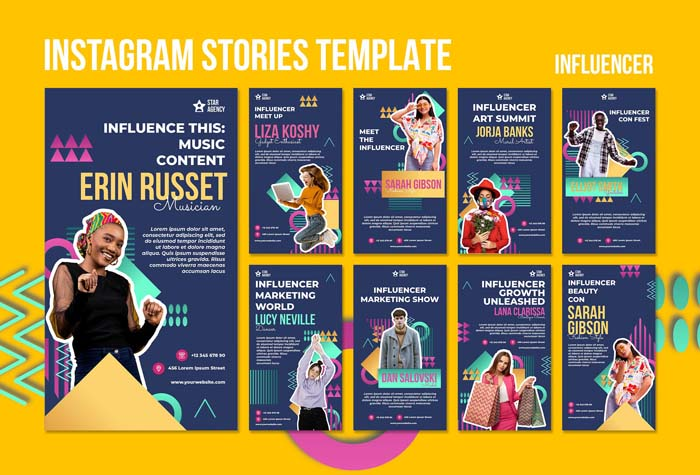 Influencer Instagram Stories Template With Photo