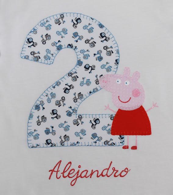 camiseta cumpleaños peppa pig 2 años