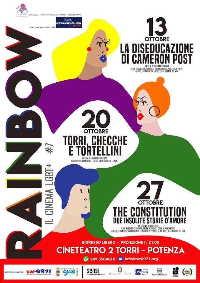 Potenza: al via la VIIª edizione di 'Rainbow, il Cinema LGBT'