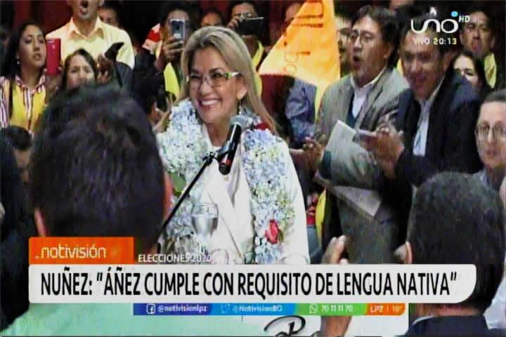 Presidenta Áñez sí cumple con requisito de lengua nativa; habla mojeño trinitario