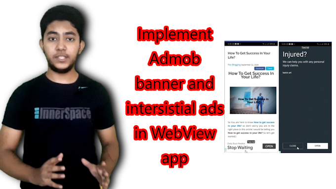 How to Implement Admob Interstitial Ads in Android Studio|| Interstitial ads 2020