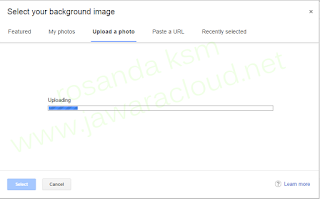 upload foto gmail