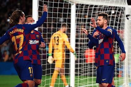 Hasil Skor Pertandingan Sepak Bola La Liga Spanyol Leganes Vs Barcelona Berakhir Dengan Skor 1-2