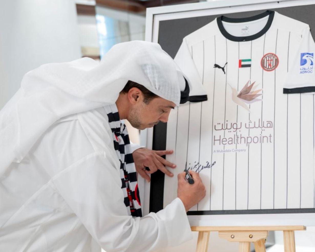 محمد بن زايد يشيد بأداء فريق الجزيرة لكرة القدم