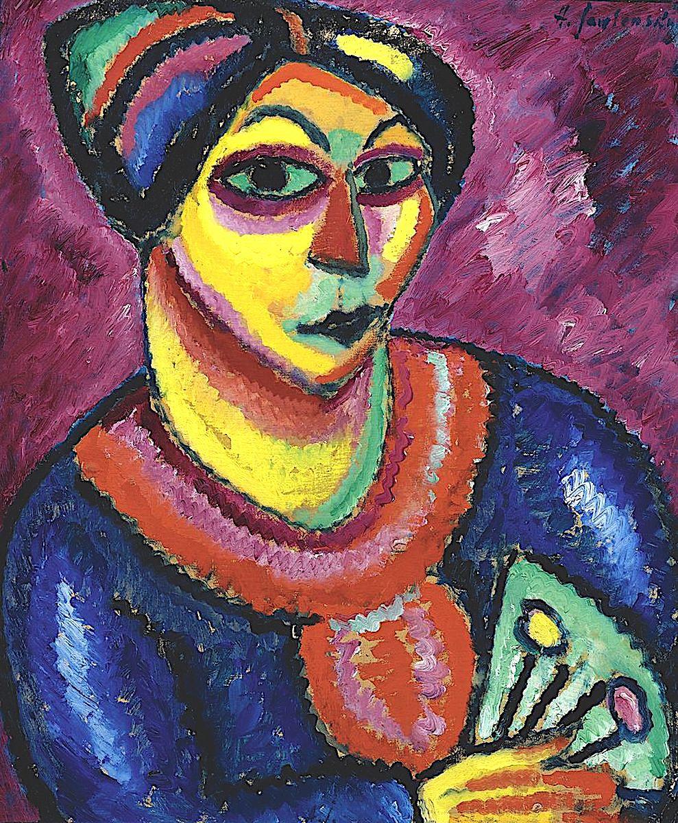 an Alexej von Jawlensky painting of a woman 1912