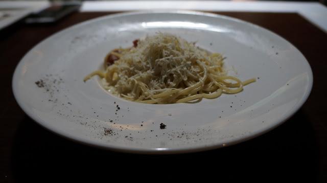 Sphagetti Carbonara  ala OMG Cafe Pontianak