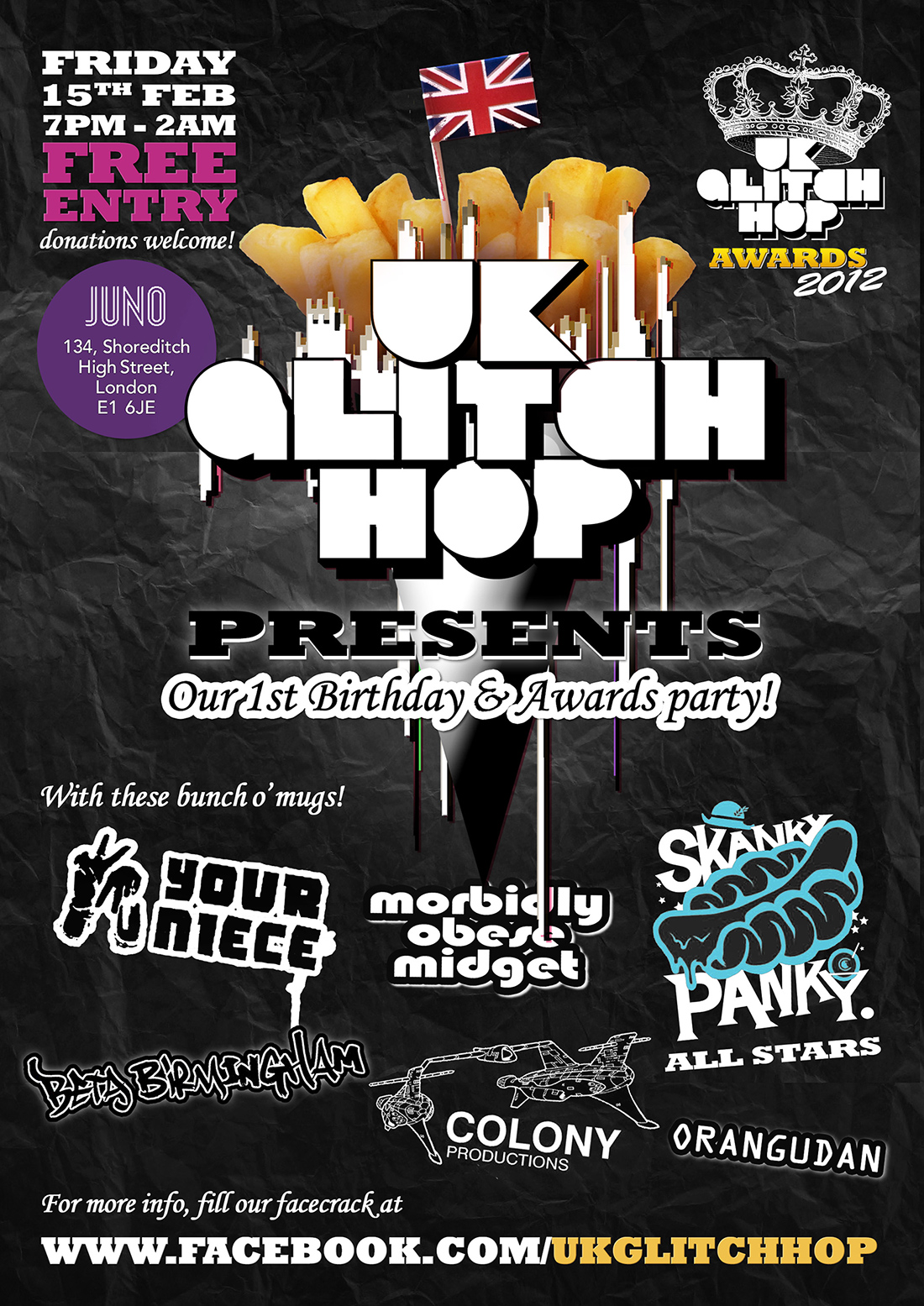 UK Glitch Hop: UK Glitch Hop 1st Birthday Tour!!! London - 15