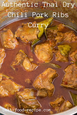 Authentic Thai Dry Chili Pork Ribs Curry
