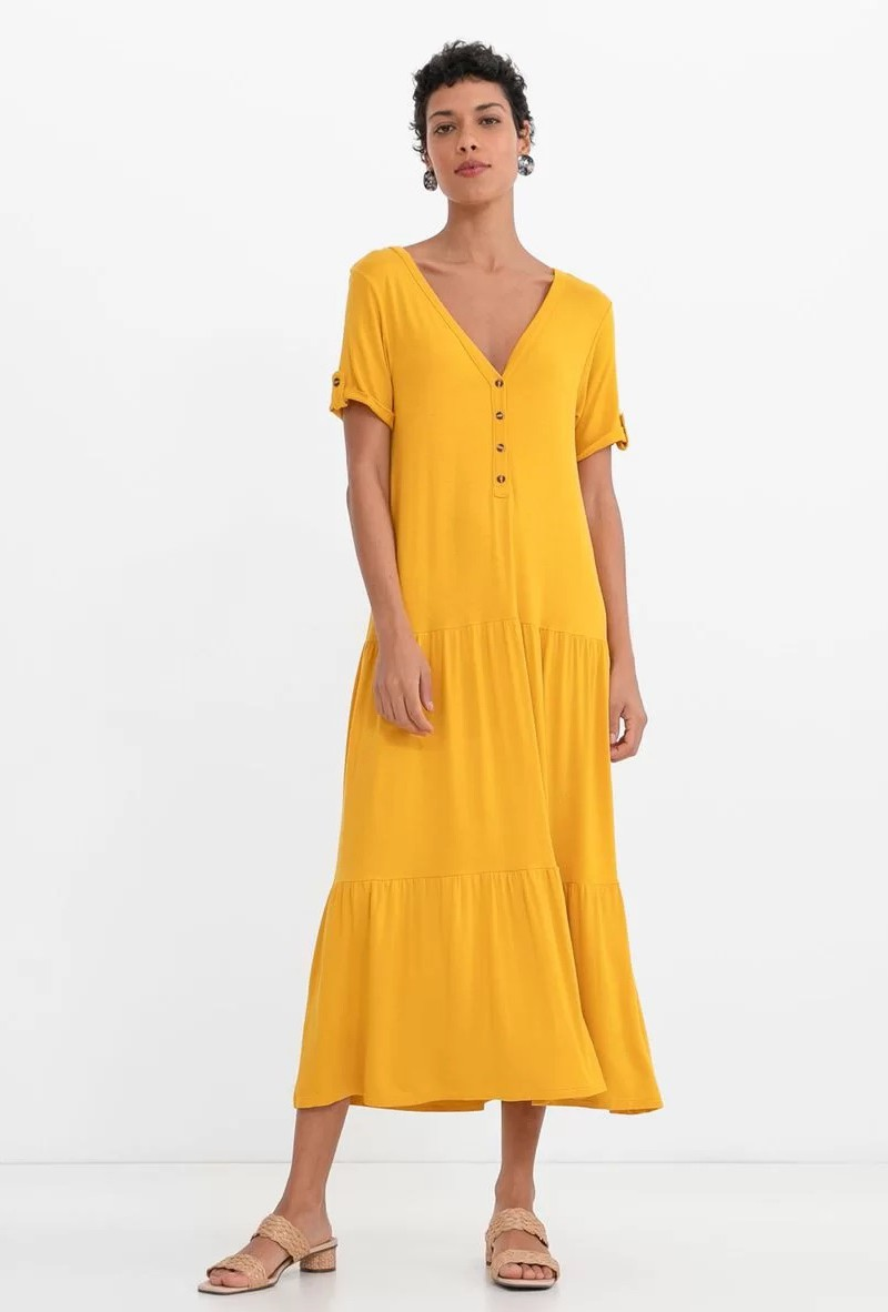 Principais tendências de moda para 2021 - tons amarelos
