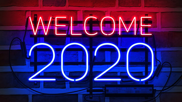 Welcome New Year 2020 NEON Wallpaper