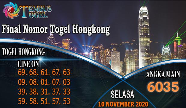 Final Nomor Togel Hongkong Hari Selasa 10 November 2020