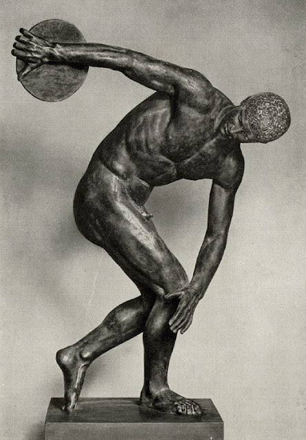 The Discobolus statue- Discus Thrower National Museum of Rome
