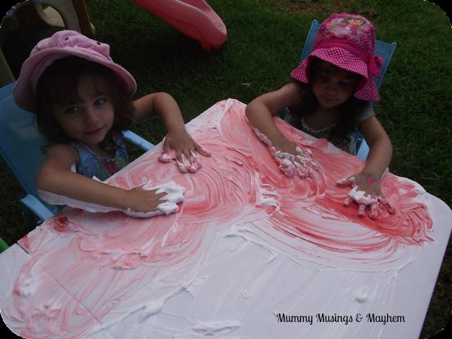 sensory foam play
