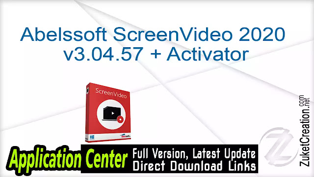 Abelssoft ScreenVideo 2020 v3.04.57 + Activator
