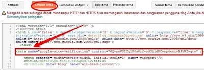 tampilan kode html blogger