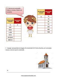 Ficha de Númeração Romana 1o.ciclo