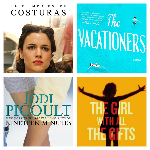 Book reviews of: El tiempo entre costuras (The time in between), The vacationers, Nineteen minutes, The girl with all the gifts.