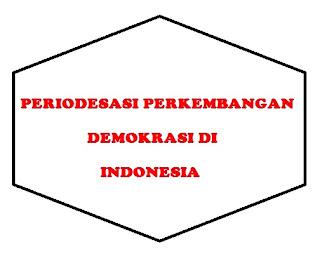 Periodesasi Perkembangan Demokrasi Pancasila di Indonesia