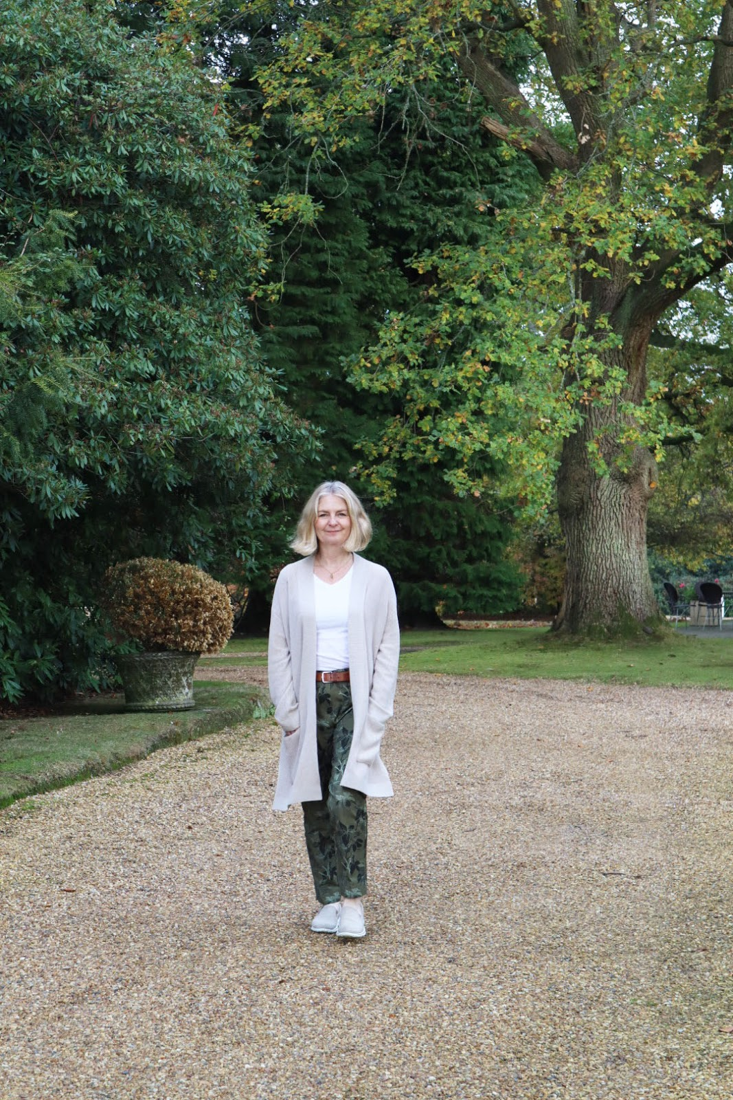 A walk along a tree lined drive for Mutton Style blogger Anna.