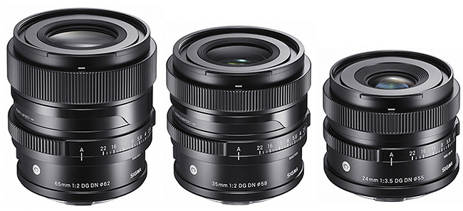 Объективы Sigma 24mm f/3.5, 35mm f/2.0 и 65mm f/2.0