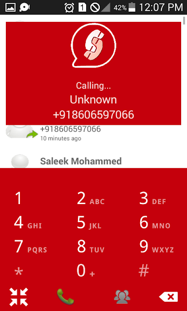 Free phone call using speakfree app