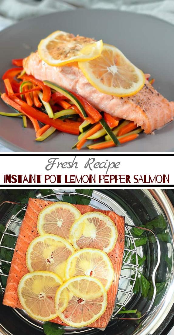 Instant Pot Lemon Pepper Salmon #dinnerrecipe #food #amazingrecipe #easyrecipe