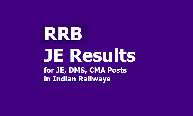RRB JE Results 2019 to be out for JE, DMS, CMA Posts Recruitment in Indian Railways