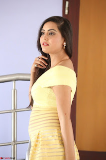 Shipra gaur in V Neck short Yellow Dress ~  047.JPG