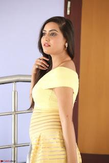 Shipra gaur in V Neck short Yellow Dress ~  047.JPG