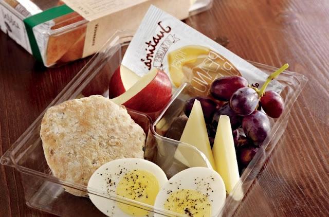 healthy breakfast at starbucks, healthy breakfast sandwich, protein bistro box