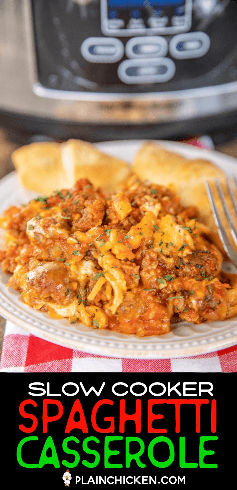 spaghetti casserole on a plate
