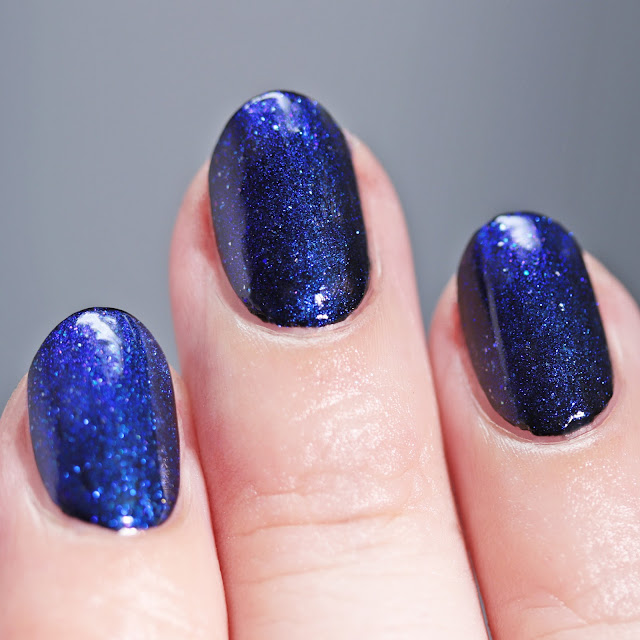 Starlight Polish St. Elmo's Fire over black