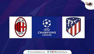 بث مباشر مباراة أتلتيكو مدريد وميلان مباشرة في دوري أبطال أوروبا