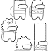 Among us - The Simpsons para Colorir