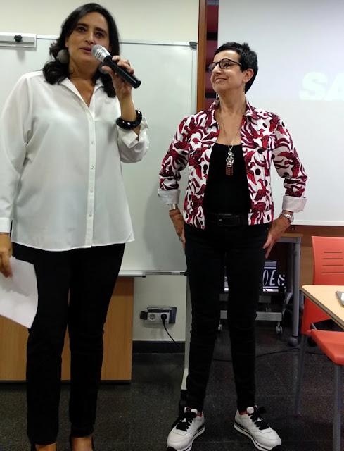 Carme Ruscalleda i Agata Albero al Mercat de la plaça de Cuba