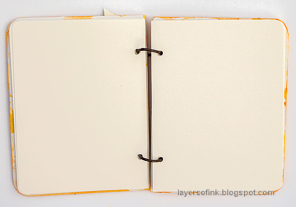 Notebook inside pages - layers of ink